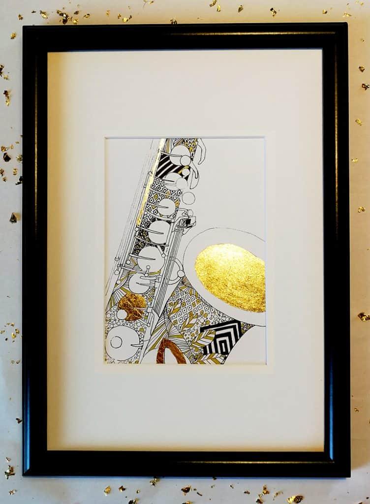 Saksofon Gold