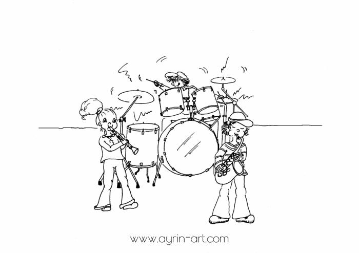 ayrin-art.com Bobni klarinet saksofon
